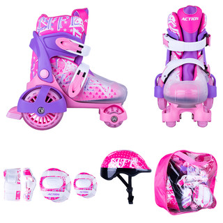 Children's Roller Skating Set Action Darly Girl - Violet-White