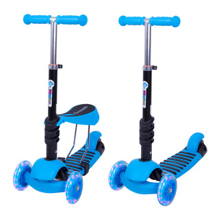 3-in-1 Scooter WORKER Nimbo - Blue