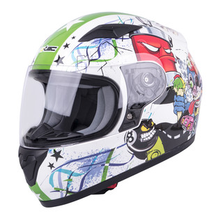 Children's Integral Helmet W-TEC FS-815G Tagger Green - White-Green with Graphics