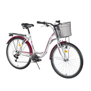 "City Bicycle DHS Citadinne 2634 26"" – 2016 Offer - White-Black-Pink"