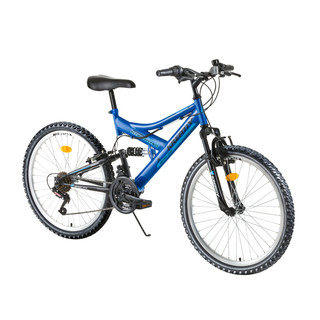 "Junior Full Suspension Bike Kreativ 2441 24"" - model 2016 - Blue"