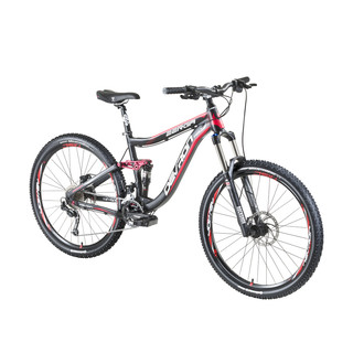 "Full Suspension Mountain Bike Devron Zerga FS6.7 27.5"" – 2016 - Black-Red"