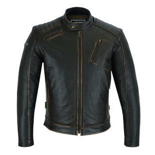 Leather Motorcycle Jacket W-TEC Embracer - Vintage Dark Brown