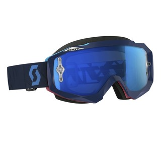 Moto Goggles Scott Hustle MXVI - Angled Blue-Pink-Electric Blue Chrome