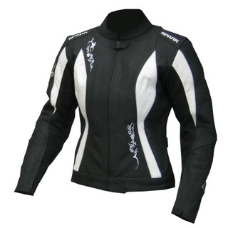 Women moto jacket Spark Jane - Black-White