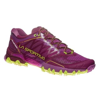 Women's Running Shoes La Sportiva Bushido - Plum/Apple Green