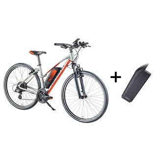 Women's Cross E-Bike Devron 28162 with Replacement Battery 14.5Ah – 2018 - Silver