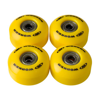 The wheels on the skateboard WORKER 50*30 mm incl. ABEC 5 bearings - Yellow