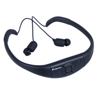 Waterproof MP3 with headphones inSPORTline Drumy - Black