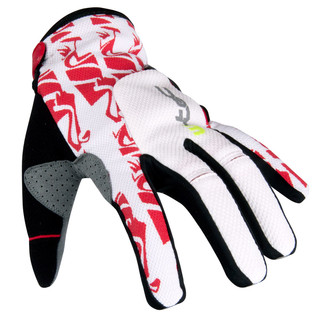 Motocross Gloves W-TEC Hazel - White/Red