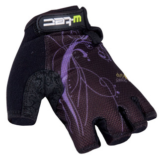 Women's Cycling Gloves W-TEC Mison - Black-Violet