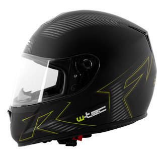 Motorcycle Helmet W-TEC V159 - Black and Graphics