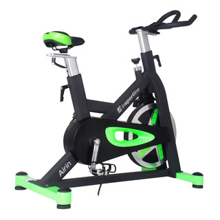 Spinning Bike inSPORTline Airin - Black-Green