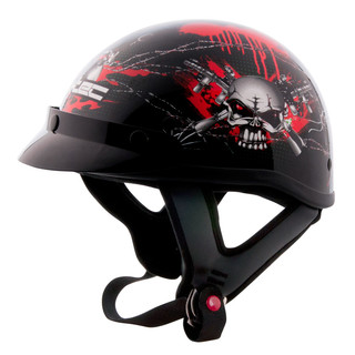 Moto Helmet W-TEC AP-70 - Black-Red