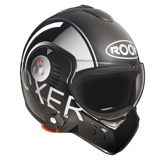 COPY - Motorcycle helmet Roof Boxer V8 Grafic - Black-Grey