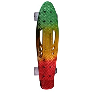 Pennyboard Karnage Chrome Retro Transition - Red-Yellow-Green