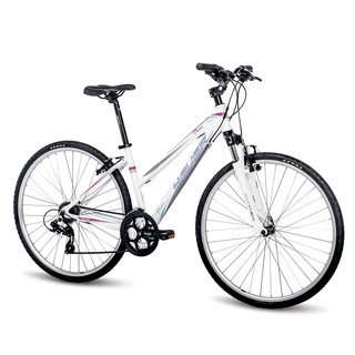 "Women's Cross Bike 4EVER Flame 28"" – 2016 - White-Blue"