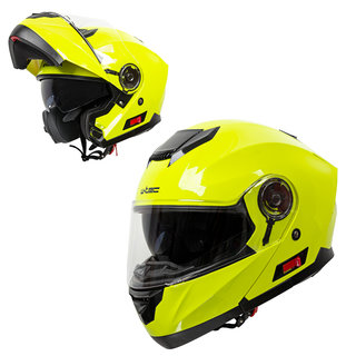 Flip-Up Motorcycle Helmet W-TEC Lanxamo - Fluo Yellow