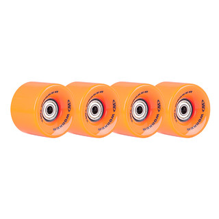 The wheels on the skateboard WORKER 60*45 mm incl. ABEC 5 bearings - 4 pieces - Orange