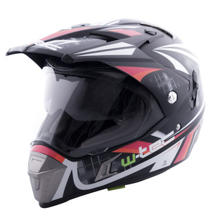 Motorcycle helmet W-TEC NK-311 - Black-Orange