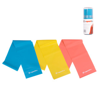 Set of resistant rubbers inSPORTline Latex Aerobics Band