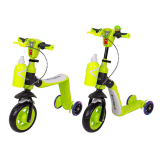 Tri-Scooter 3-in-1 WORKER Noggio with Light-Up Wheels - Green