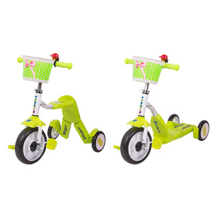 Tri-Scooter 2-in-1 WORKER Blagrie - Green