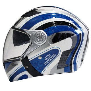 Motorcycle Helmet WORKER V220 - Blue