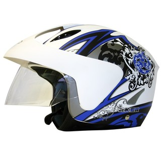 WORKER V520 Motorcycle Helmet - Sale - White Graphics