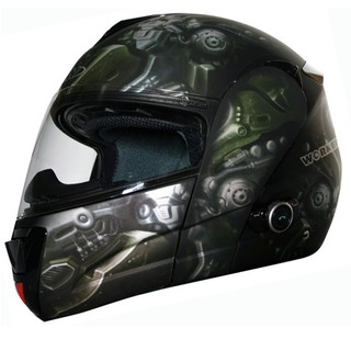 WORKER V210 Bluetooth motorcycle helmet + Interkom - LEH-Crazy Skull