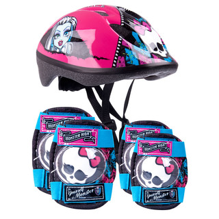 Monster High set - helmet + knee and elbow protectors