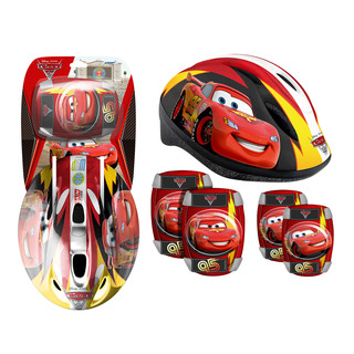 Disney Cars set helmet + pads for kids