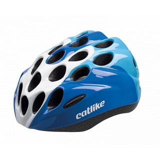 Children's Bike Helmet CATLIKE Kitten - Blue-White