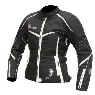 Women's Motorcycle Jacket Spark Lady Vintage - Black