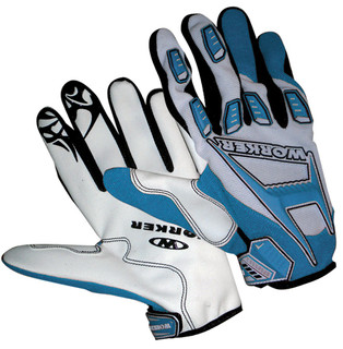 WORKER MT787 motorcycle gloves - Blue
