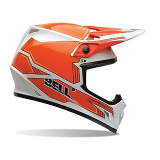 Motocross Helmet BELL MX-9 - Orange-White