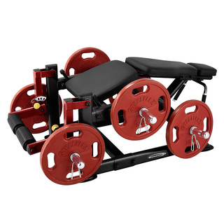 Leg Extension Machine Steelflex PlateLoad Line PLLC - Black-Red