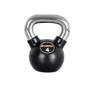 Rubber coated dumbell inSPORTline Ketlebel 4 kg