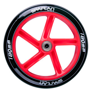 180x30mm Rear Wheel Spartan for Scooter Jumbo 2 - Black-Red