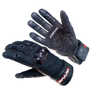Leather moto gloves Spark Short