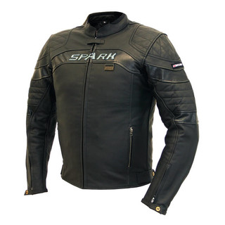 Men's Leather Moto Jacket SPARK Dark - Black