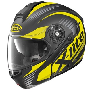 Motorcycle Helmet X-Lite X-1004 Nordhelle N-Com Flat Black-Yellow - Black-Yellow