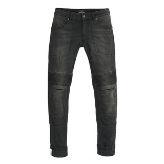 Men's Motorcycle Jeans PANDO MOTO Karl Devil 2 - Black