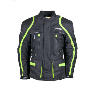Men's Long Moto Jacket W-TEC NF-2205 - black-green