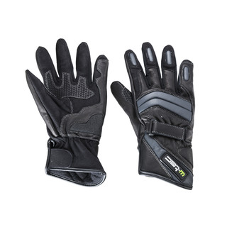 Leather Moto Gloves W-TEC NF-4134 - black-white