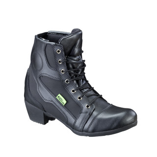 Women's Leather Moto Boots W-TEC NF-6092 - Black