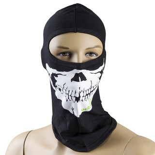 Multi Purpose Balaclava W-TEC NF-7802 - Black-White (Skull)