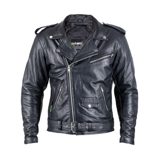 Leather Motorcycle Jacket W-TEC Perfectis - Black