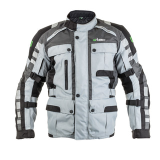 Moto jacket W-TEC Avontur - Grey-Black