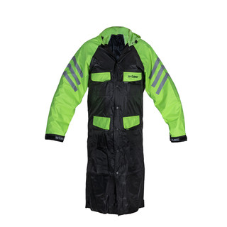 Motorcycle Raincoat W-TEC Quilda - Black-Fluo Yellow